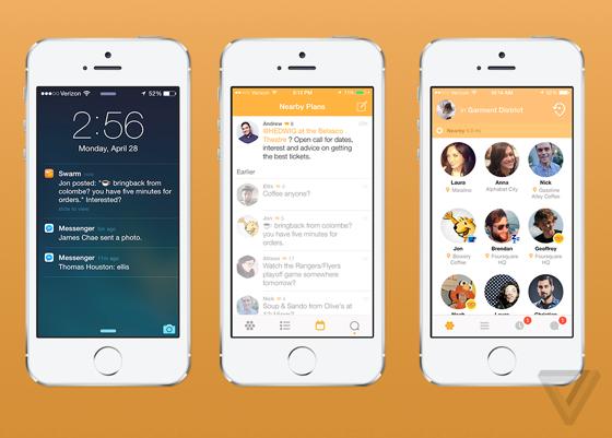 Swarm vrienden-app van Foursquare