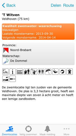 water veiligheid zwemwater