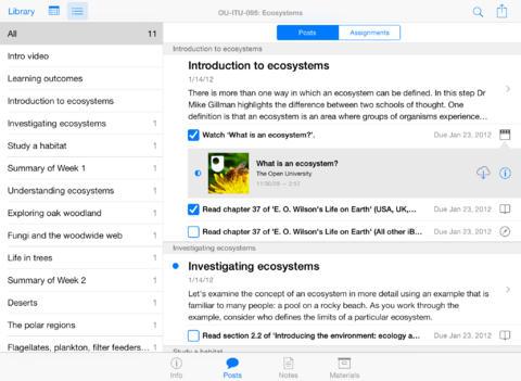 iTunes U lesprogrammas iPad