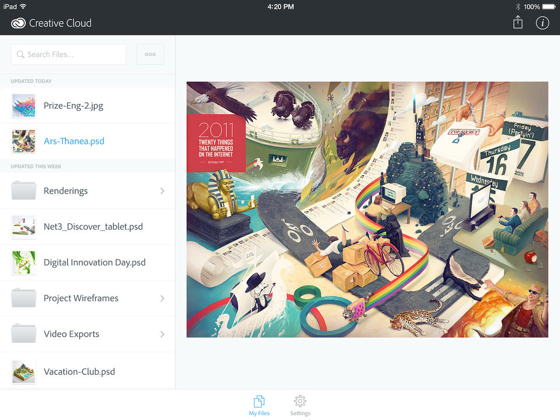 Adobe Creative Cloud iPad