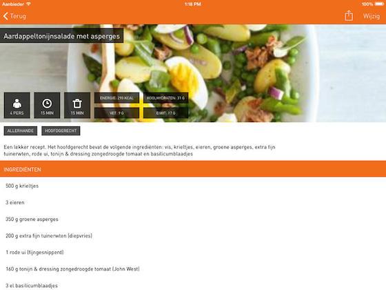 Kookschrift recept koken iPad