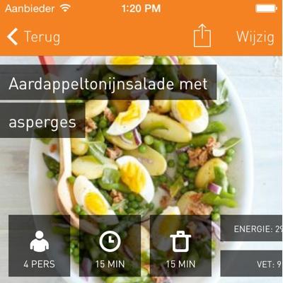 Recepten verzamelen iPhone Kookschrift