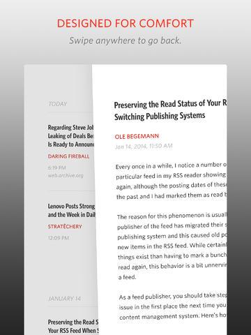 Unread for iPad vegen