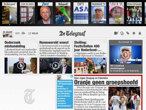 De Telegraaf lezen iPad