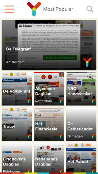 Ynews iPhone krantensites overzicht