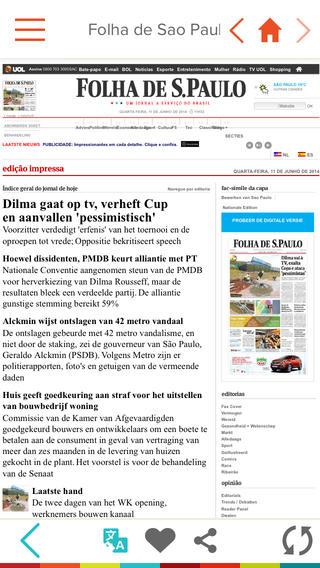 Ynews vertaalde krantenpagina