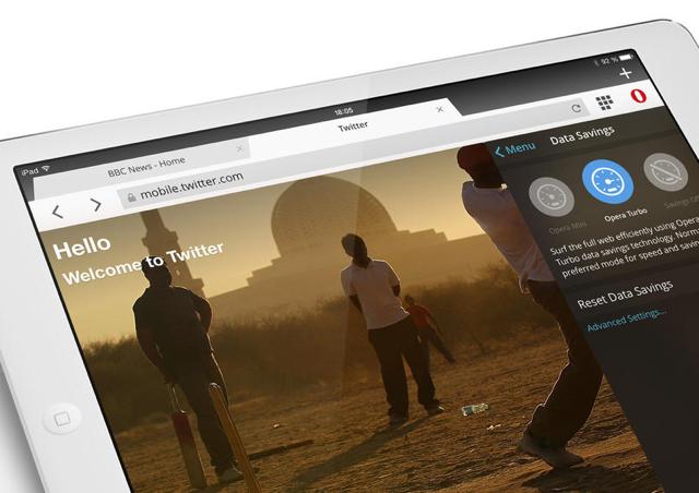 Opera Mini browser 8.0 iPhone iPad