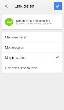 Google Drive - bestanden delen met link