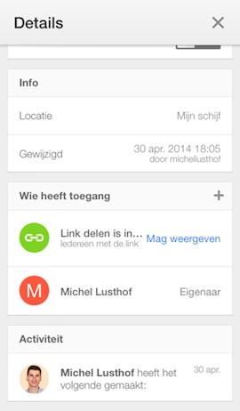 Google Drive - bestanden delen met een link