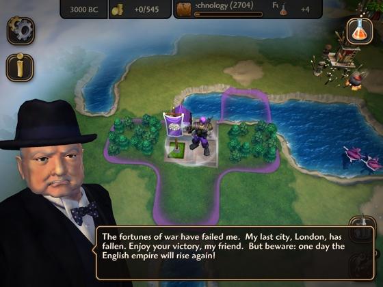 Civilization Revolution 2 iOS Churchill