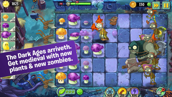 Plants vs Zombies 2 Dark Ages iPhone