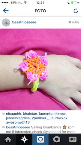 Instagram roze bloem
