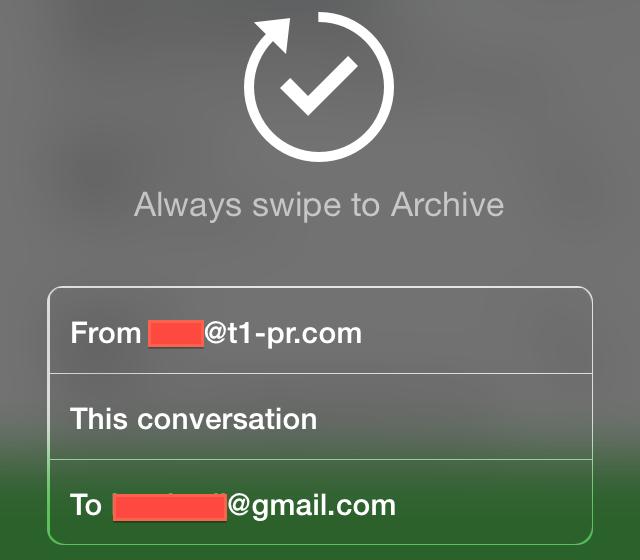 Mailbox autoswipes iPhone