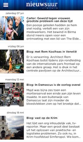 Nieuwsuur iPhone weblogs