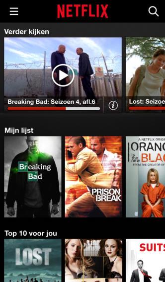 Netflix iOS redesign