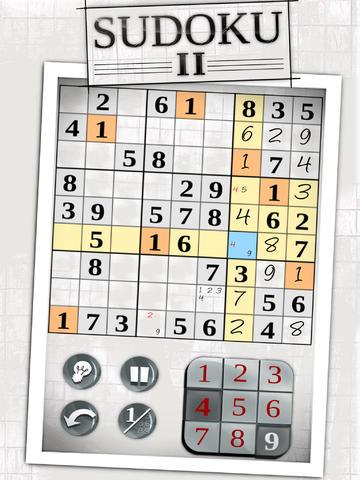 Sudoku II iPad iPhone iCs