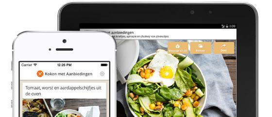 Koken met Aanbiedingen iPhone iPad