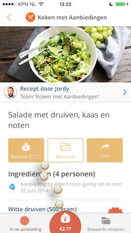 Koken met Aanbiedingen besparen iPhone