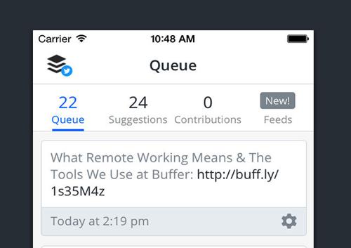 Buffer app wachtrij