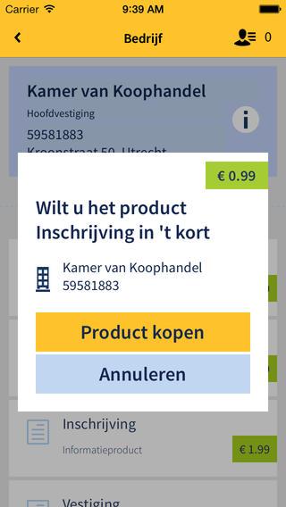 KvK App product kopen iPhone