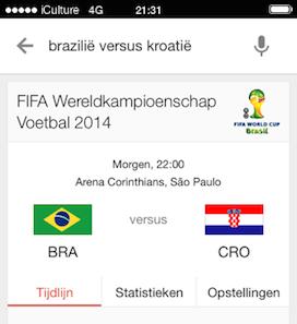 Google Zoeken WK 2014