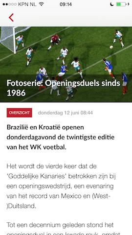 NUsport bericht pagina