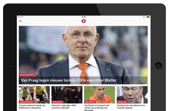NUsport vernieuwd iPhone iPad