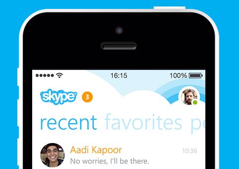 Skype 5.0 header iPhone
