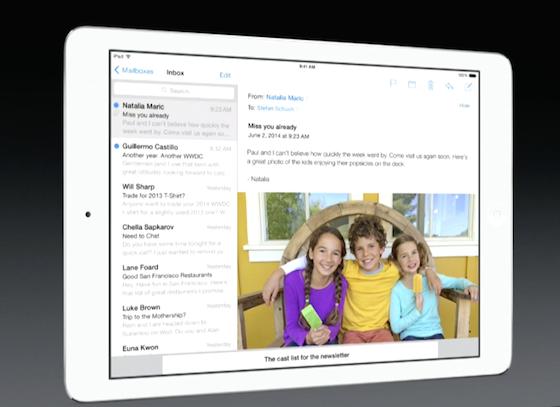 Mail iOS 8 - Terug naar inbox bij mailtje tikken