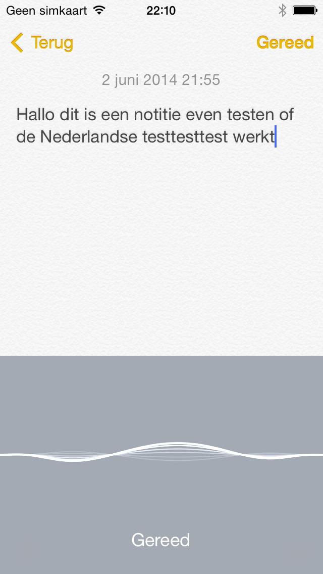 iOS 8 dicteren Nederlands