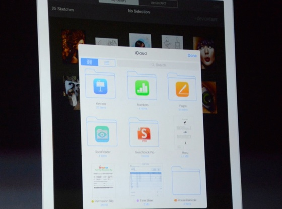 iCloud Drive documenten in app
