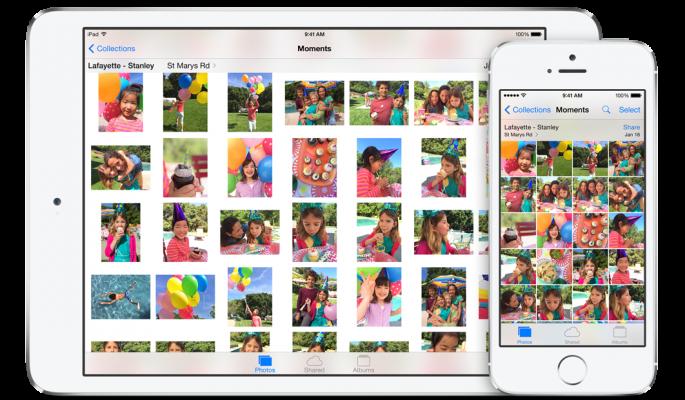 iOS 8 foto's app