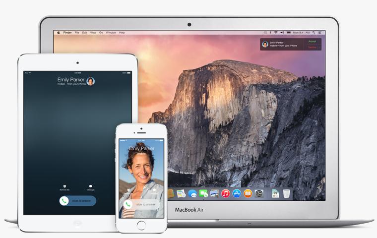 iOS 8 OS X connectivity