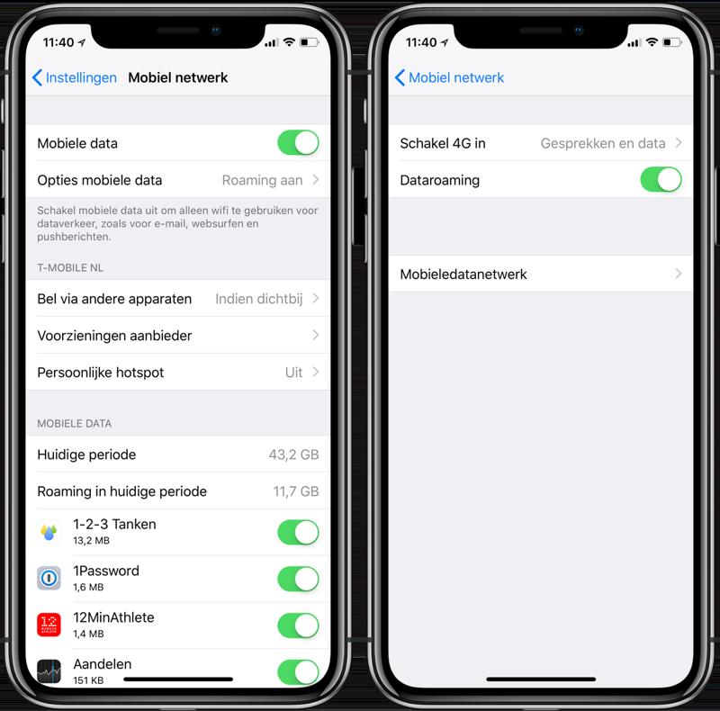 Mobiele data uitschakelen