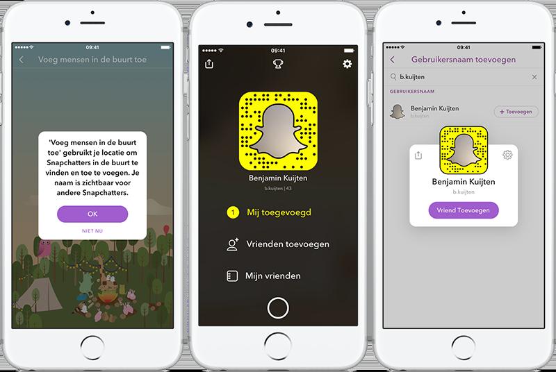 Snapchat-vrienden