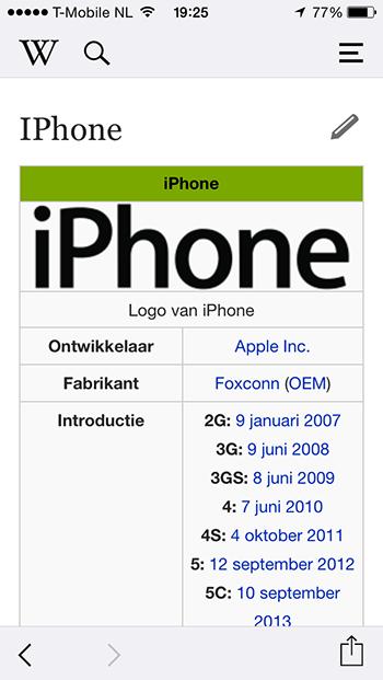 Wikipedia app 2