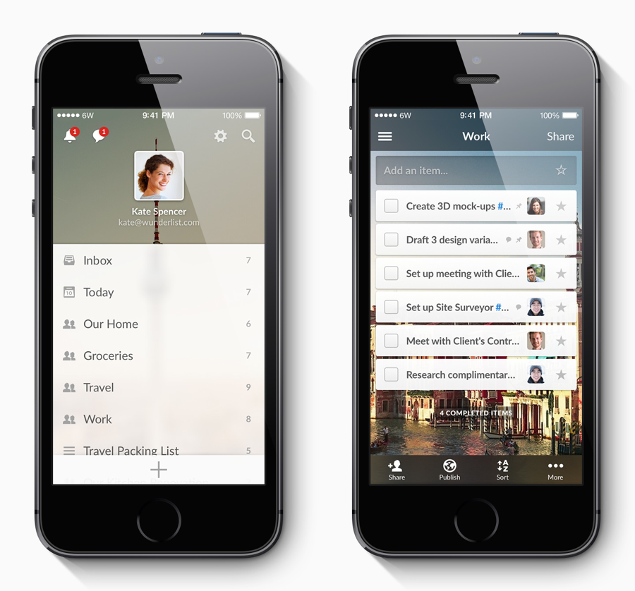 Wunderlist 3 iPhone