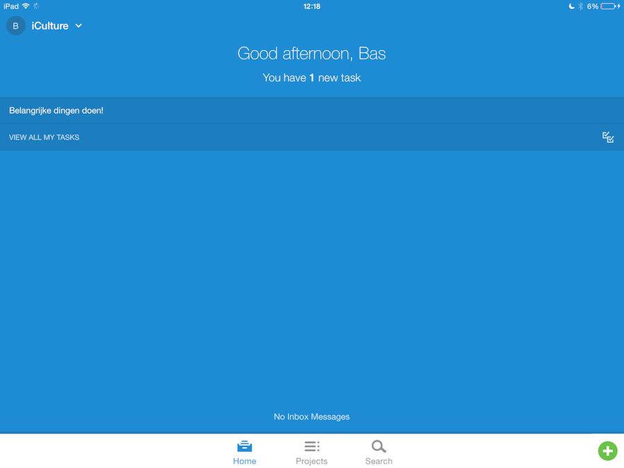 Asana iPad screenshot