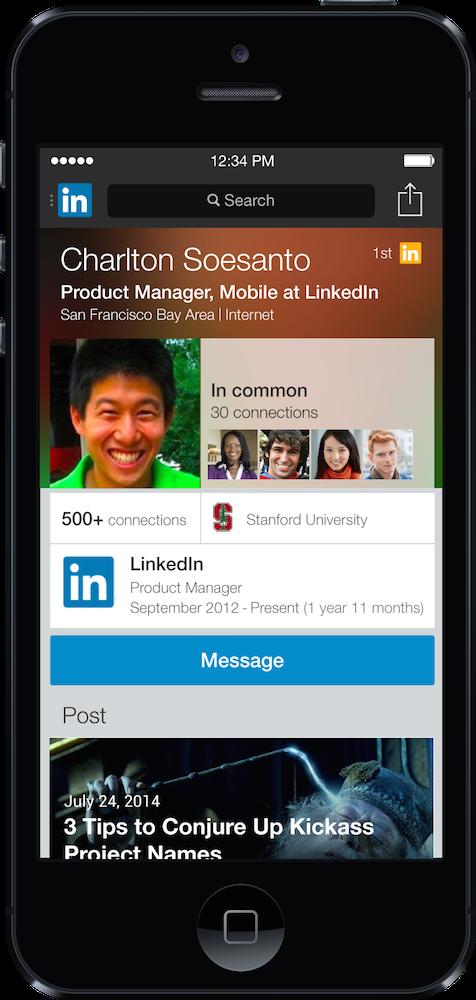 LinkedIn nieuw profiel
