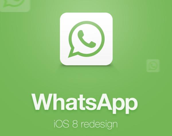 WhatsApp iOS 8 redesign logo
