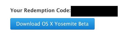 redemption code os x yosemite
