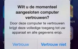 iOS vertrouw