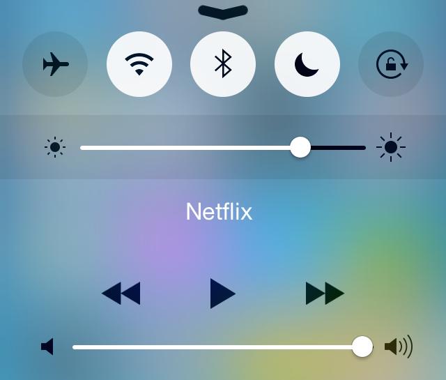 iOS 8 beta 4 bedieningspaneel