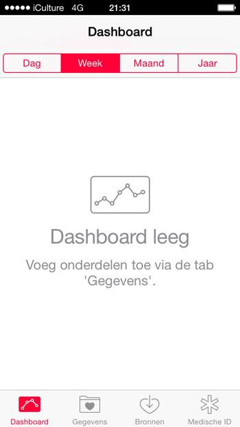 gezondheid-app-dashboard-leeg