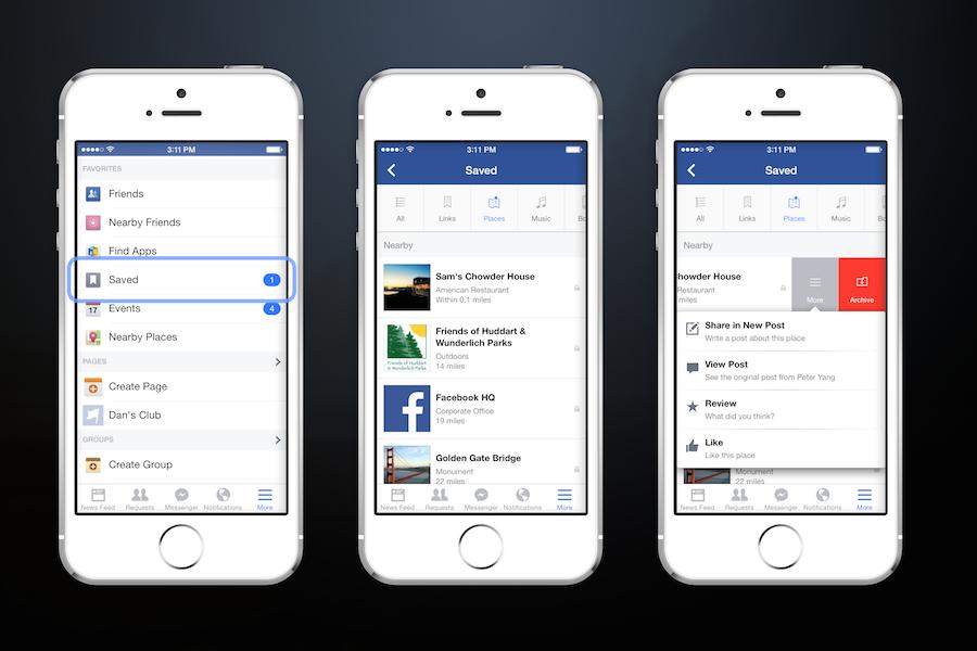 Facebook krijgt bewaarfunctie
