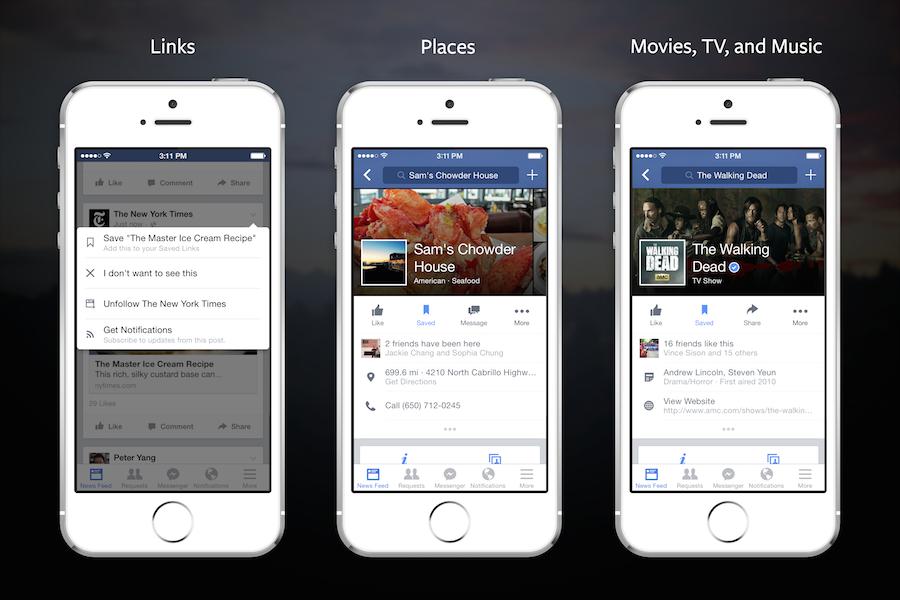 Facebook-app krijgt bewaarfunctie