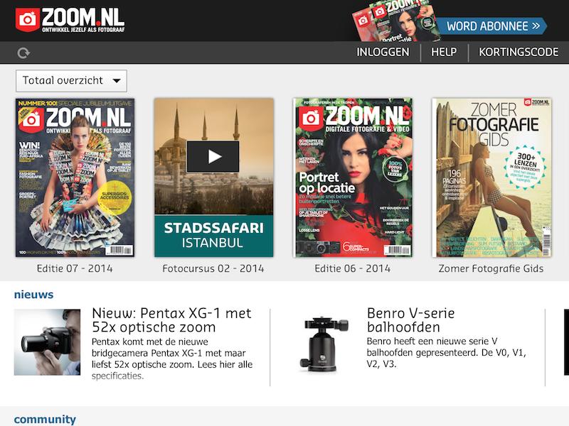 Zoom.nl iPad app