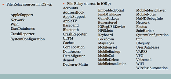Apple filerelay bronnen