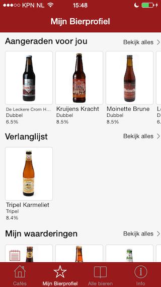 BierApp collectie en aanraders