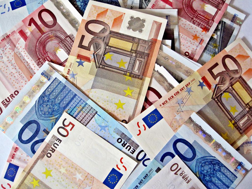Geld euro mobiel bankieren